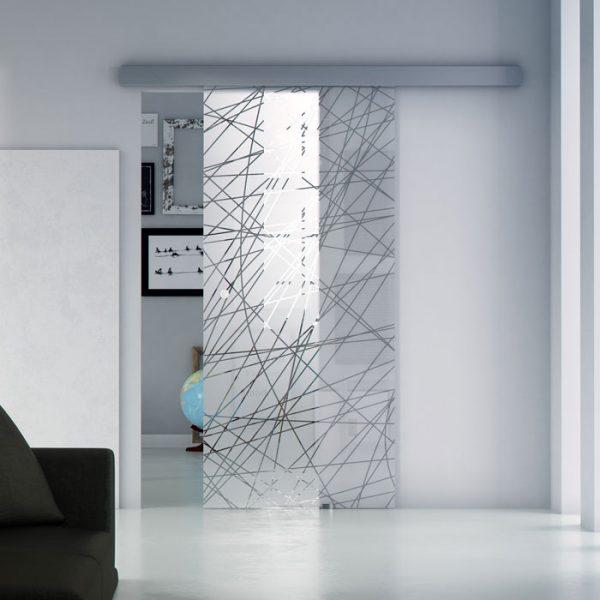 porta in vetro scorrevole esterna armonia