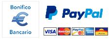 modalità di pagamento: bonifico e paypal